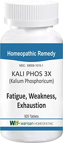 Kali PHOS - Fatigue, Weakness, Physical Exhaustion, Irritability and Stress Relief. All Natural. Tissue Salts. Tablets (3X) (Phos Kali Cell Salts)