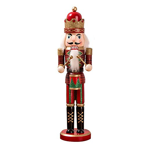 Womdee Wooden Traditional King & Drummer Nutcracker Puppet Toy Christmas Themed Party, Festive Christmas Decor | 14.96