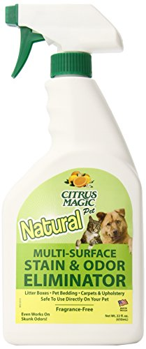 Citrus Magic Pet Multi-Surface Stain and Odor Eliminator, Pack of 3, 22-Ounce -