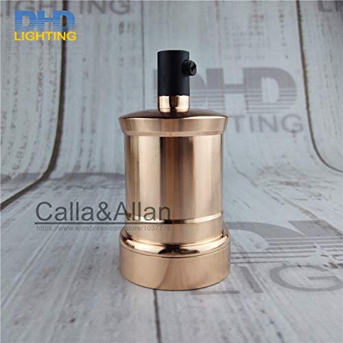 Kamas Aluminum cover with plastic socket lamp holder E27 fitting DIY lighting socket UL/CE AC110V/220V Kamas (Color: LH7504, Base Type: 10units)