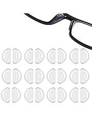Antislip Neuspads Neuspads Voor Glazen Bril Neuskussentjes Zonnebril Siliconen Neuspads Zachte Neuspads Silicagel Antislip Comfortabel Bescherm De Neus Bril Zonnebril Kantoor Leren 12 Paar