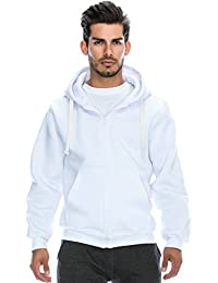 Mens Hipster Hip Hop Basic Heavyweight Zipup Hoodie Jacket (size upto 6XL Plus)