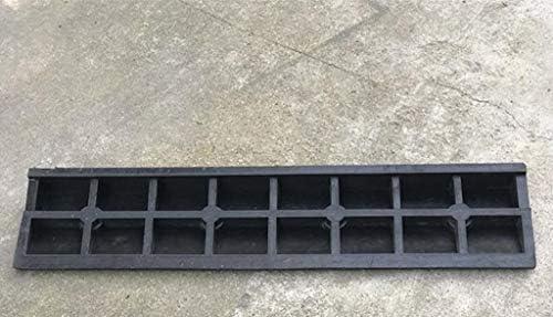 Rampas de goma antideslizantes, puerta de garaje negra Rampas de bordillo de escalera de jardín Rampas de silla de ruedas multifunción de The Mall Hospital (Color : Black, Size : 100 *