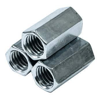 1 1/2''-6 x 4'' (2'' AF) Hex Coupling Nuts / A563 Grade A Steel/Zinc Plated (Quantity: True