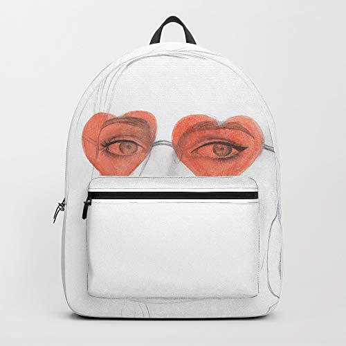 Society6 Backpack, Heart Sunglasses by thaliaroman, Standard Size (Glass Heart Spun)