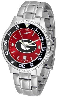 Georgia Bulldogs Competitor Steel AnoChrome Color Bezel Men's (Team Color Competitor Watch)