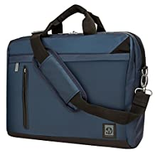 VanGoddy Adler Briefcase Messenger Bag for Asus 14 to 15.6-inch Laptops (Blue)