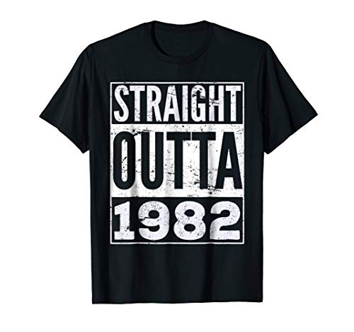 Adult Straight Outta 1982 T-Shirt Funny Birthday T-Shirt