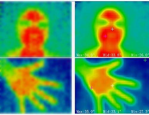 Imager Digitale a Colori funzioni Termiche realistiche e Gamma di Temperatura da -40~300/°F termosensibile a infrarossi Telecamera IR Portatile misurazione della Temperatura Glomixs 32x24