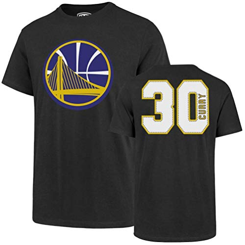 NBA Golden State Warriors Steph Curry Mens Player OTS Rival Teenba Player Rival Tee, Stephen Curry - Charcoal, Large