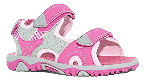 Little Girls Sandals (Khombu Girl's River Sandal Pink/Grey Size 2 M US)
