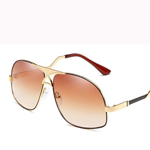 Gafas sol día sol Gafas padre aire Gafas Sra Personalidad F del Color moda libre de DONG Regalos Gafas Espejo de de C Metal al sol de hombre de Conducción del dxwXET