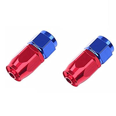12Ft 3.6m 6AN 3/8'' Universal Braided Oil Fuel Line Hose Stainless Steel Nylon with 6PC AN-6 Swivel Hose Ends & 2PC AN-6 to AN-10 Fuel Tank Fitting Adapters Kit-Red-Blue: Automotive