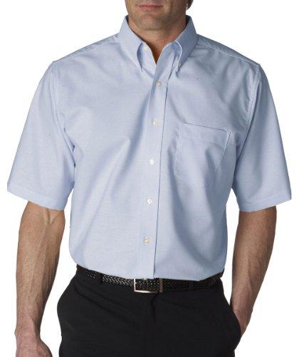 UltraClub mens Classic Wrinkle-Free Short-Sleeve Oxford(8972)-LIGHT BLUE-M