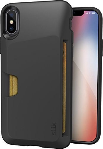 "Silk iPhone X Wallet Case - VAULT Protective Credit Card Grip Cover - ""Wallet Slayer Vol.1"" - Black Onyx"