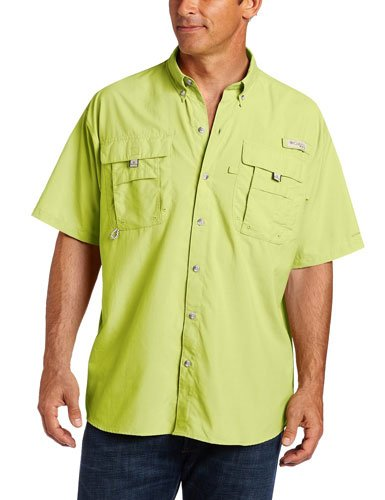 Columbia Men's Bahama II Shorts Sleeve Shirt, Neon Light, X-Small by Columbia