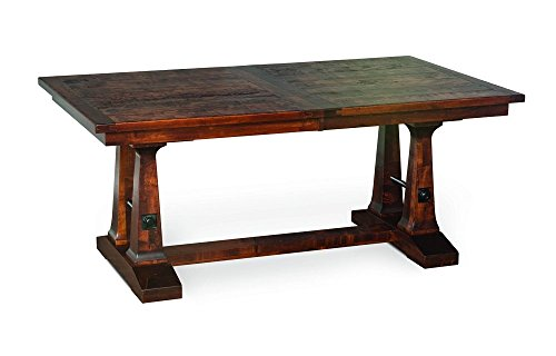 Amish Vienna Rustic Plank Trestle Solid Wood Dining Table (Rustic (Amish Cherry Desk)