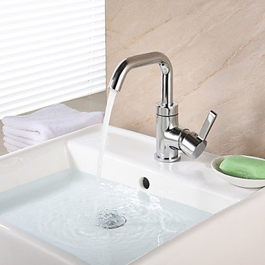 ZLL Centerset Single Handle One Hole in Chrome Bathroom Sink Faucet