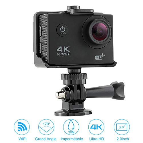 NEXGADGET Cámara de Acción 4K Deportiva WiFi Ultra HDMI Impermeable Videocámara Sumergible hasta 30m Sensor de Sony 16MP...