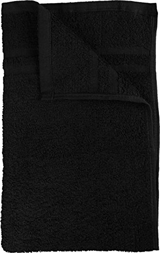 Utopia Towels Cotton Bleach Proof Salon Towels (24-Pack, Black,16 x 27 inches) - Bleach Safe Gym Hand Towel by Utopia Towels (Image #7)