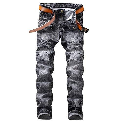 Sin Jeans Pantalones De De del Los Pantalones Midi De Fit Hombres Ropa Delgados Vaqueros Los Pantalones Pretina Rectos Algodón Vaqueros 1 Regular Dril Denim Elásticos 8OaBFEWU