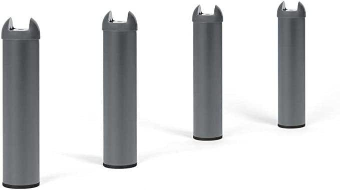 base filet/ée r/églable de 22 mm 4 pi/èces Pieds de meubles en m/étal bla Pieds de lit Cylinde Pieds de support Accessoires de cadre de lit r/églables En forme de T capacit/é de charge 400 kg