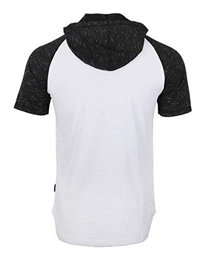 d494a247152e ZIMEGO Men s Short Sleeve Pullover Hoodie Lightweight Soft Jersey Hooded T- Shirt