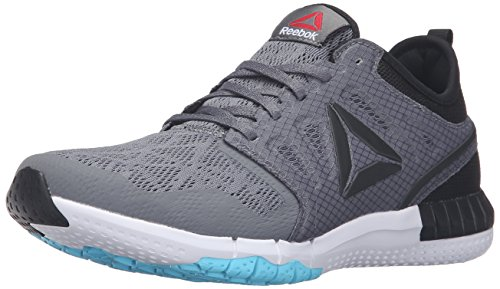 Reebok Women's Zprint 3D Walking Shoe, Alloy/Black/White/Crisp Blue, 8 M US