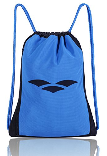 MIER Gym Drawstring Bag Men Women Sackpack for Beach, Travel, Sports, Swimming