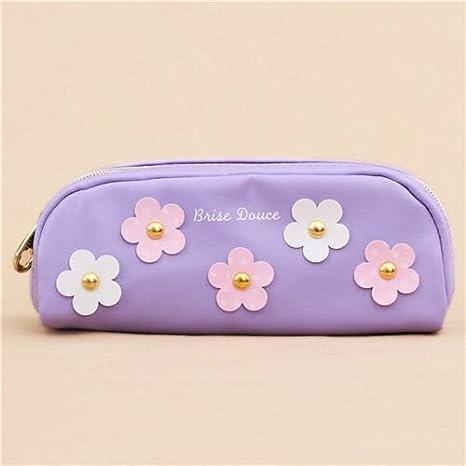 Mind Wave Lindo estuche para lápices violeta flor rosa ...