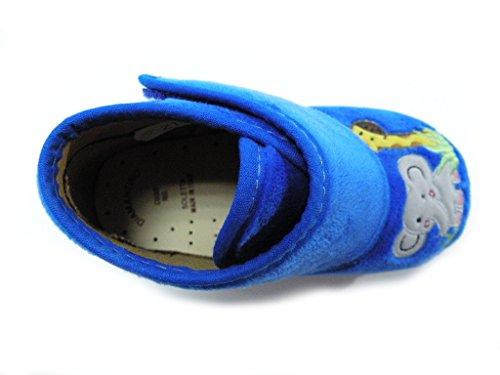 Diamantino Zapatillas Velcro Primi Passi animales azul macho azul turquesa