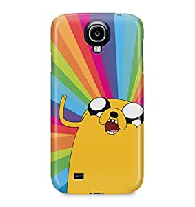 Adventure Time Jake The Dog Happy Trippy Rainbow Acid Hard Plastic Snap-On Case Skin Cover For Samsung Galaxy S4