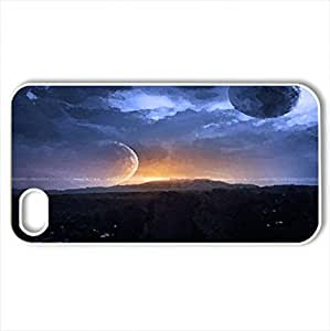 Another World - Case Cover for iPhone 4 and 4s (Watercolor style, White)