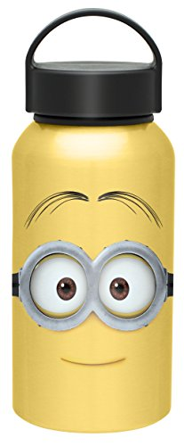 Zak! Designs Aluminum Water bottle with Carrying Loop and Jerry from Minions Movie, BPA-free, 13 oz. -