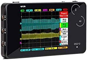 Zhaolan-Meter Industriewerkzeugset Tragbares Mini-Handheld-Digitalspeicher-2-Kanal-Oszilloskop, 10Msa / s 8MB Speicherbandbreite 1MHz DS212 Mini-Werkzeuge