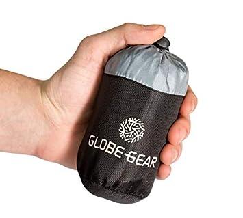 GlobeGear – Saco de Dormir de Viaje más pequeño en Todo el Mundo, Ligero y Agradable en la Piel, Buena circulación del Aire, hostales y países ...