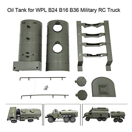 Wenini WPL Remote Control Army Green Oil Tank for WPL B24 B16 B36 Military RC Car Truck (1 Set of WPL) ()