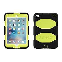 Griffin GB41357 Survivor All-Terrain iPad Mini 4 Carrying Case, Black/Green