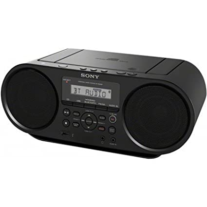Sony Portable Bluetooth Digital Tuner AM/FM Radio Cd Player Mega Bass Reflex Stereo Sound System Plus 6ft CubeCable Aux Cable to Connect Any Ipod, Iphone or Mp3 Digital Audio Player Sony Bluetooth Portable Cd Player