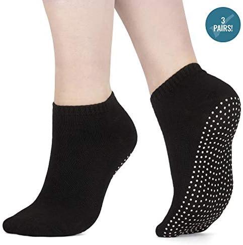 x3 Packung Pilates Socken, Yoga Socken - Martial Arts, Fitness, Zumba, Tanz - Anti-Rutsch - Full Toe Sports Socken - Unisex mit Grip, UK 6-11 / EU 39-46 - Von ATA®