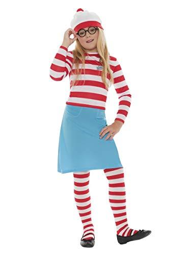 Waldo Costume Girl (Boys Girls Child's Where's Wally Waldo Book Day Fancy Dress Costume Outfit 4-12 Years (10-12)
