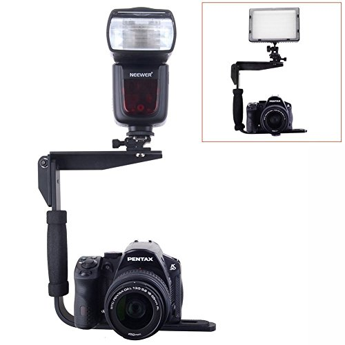 Neewer¨ Quick Flip Rotating Flash Bracket for Digital SLR Cameras Point and Shoot Cameras and Speedlight Flashes