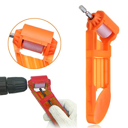 Pukido Portable 5/64 Inch to 1/2 Inch Grinding Wheel Drill Bit Sharpener Abrasive ()