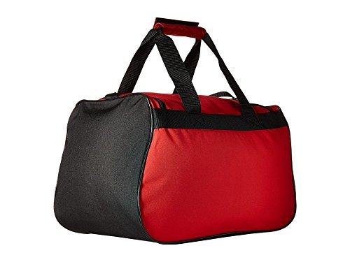 adidas Diablo Small Duffel Bag, Scarlet/Black/White, 11 x 18.5 x 10-Inch