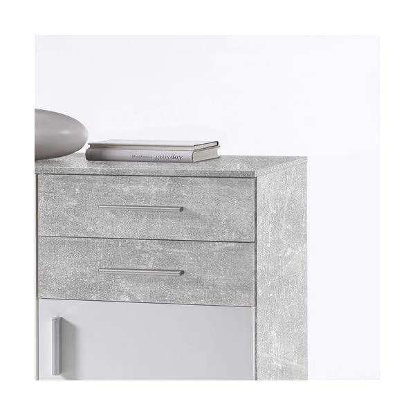 Stella Trading Commode décorative en béton Blanc 80 x 82 x 35 cm