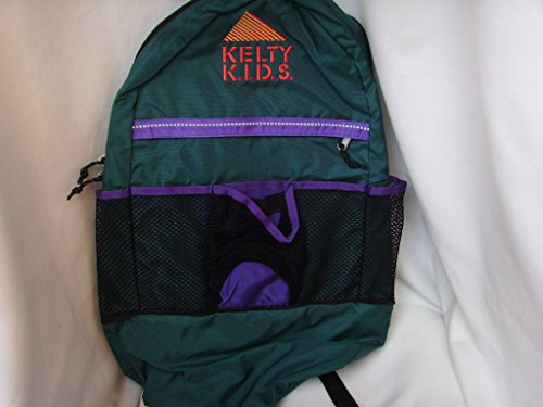 kelty-kids-green-backpack-camping-hiking-school-13-x-22-collectible