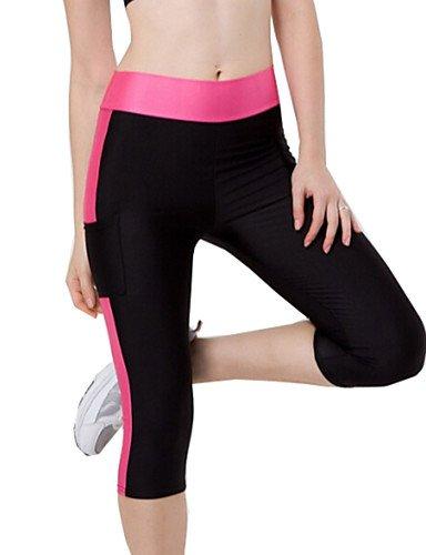 TT&KUZI Pantaloni da Donna Sportivi Attillato Poliestere Elasticizzato, s