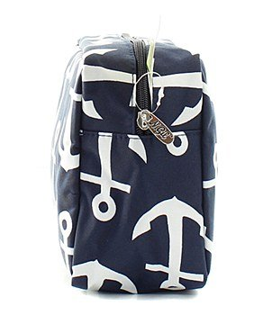 N.Gil Nautical Anchor Print Small Canvas Cosmetic Travel Bag by N.Gil (Image #2)