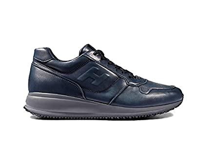 HOGAN INTERACTIVE N20 IN BLUE LEATHER, Mens, Size: 12.