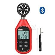 NKTECH UT363BT PLUS Bluetooth Digital Anemometer Gauge Wind Speed Temperature Meter Max/Min Weather Data Collection For Outdoors Windsurfing Sailing Surfing Fishing With TL-1 Screwdriver